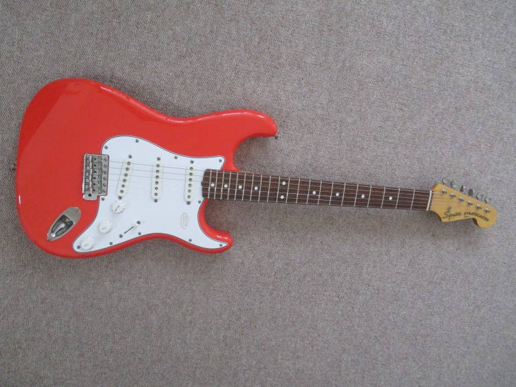 Red JV Squier Strat